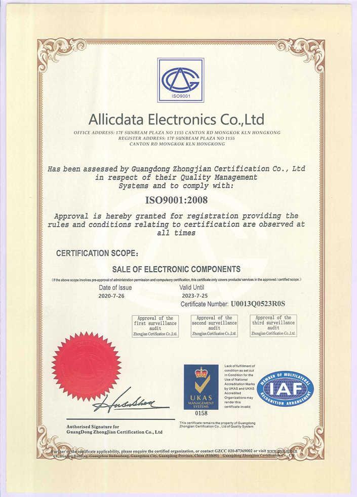 Allicdata ElectronicsCo.,Ltd Authorized